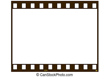Blank film strip - A blank 35 MM film strip for use as a...