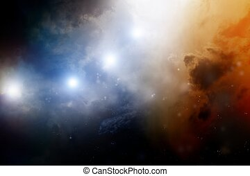 Dark sky - Abstract fantastic background - dark sky looks...