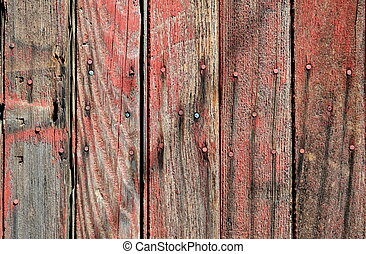 Old Wood Siding On Shed - background of old wood siding with...