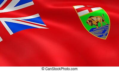 Manitoban Government flag in the wind Part of a series