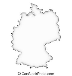 Germany map on a white background Part of a series
