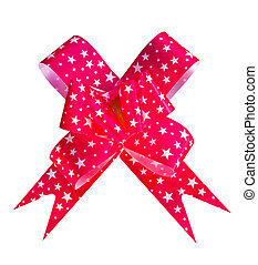 The bow tie with a ribbon on white background