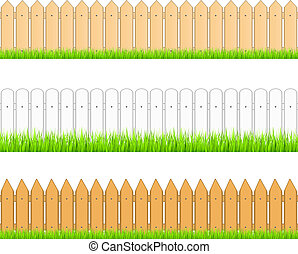 Set of seamless fences, vector eps10 illustration