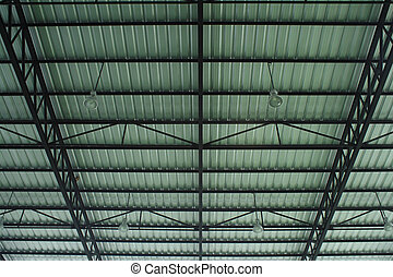 Roof of large modern hall