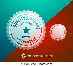 Vector transparent label - Vector abstract label transparent...