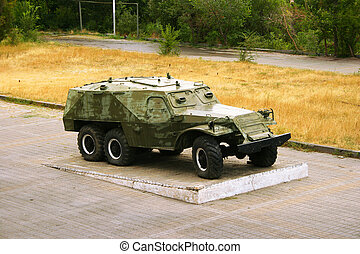 Armored vehicle - Old armored vehicle in Victory park,...