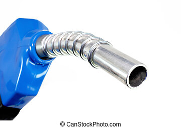Refueling hose on white background