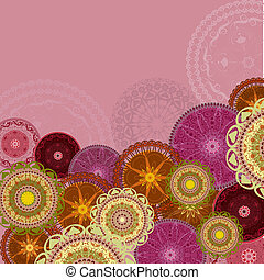 Bright design background with arabesques