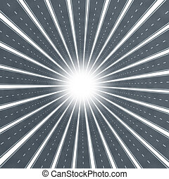 Road Star Burst - Road star burst design element as a...