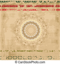 ethnic pattern grunge background