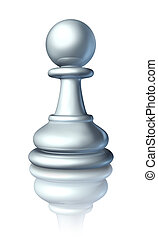 Pawn - Chess pawn as a business symbol and icon of an...