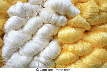 Silk thread  - Hand made raw silk thread