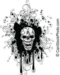 skull and patterns - Vector image skull and patterns