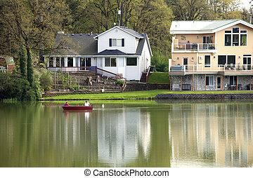 Fishing on a laker, Woodland WA.
