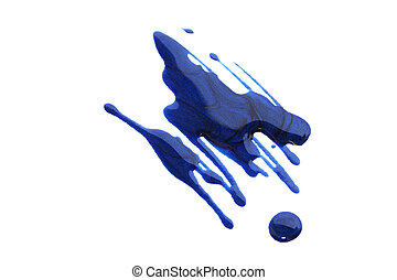 Nail polish - Spilled nail polish isolated on white...