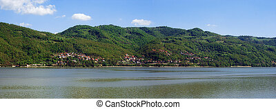 danube - landscape panorama with the Danube and a serbian...