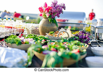eat catering - outside of the eat catering for guests of the...