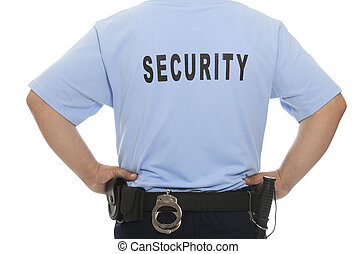 security guard - A detail of a security staff member