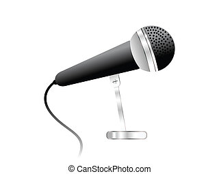 abstract mic icon