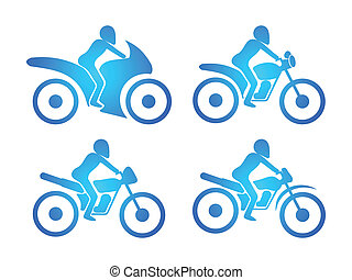 abstract multiple type of bikes