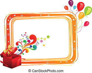 abstract birthday frame