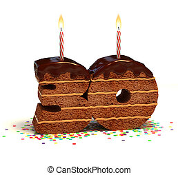 number 30 shaped chocolate cake - Chocolate birthday cake...