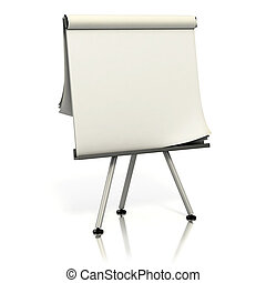 blank presentation board 3d illustration