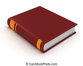 blank book with red cover