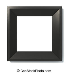 black picture frame 3d illustration