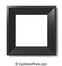 negro, imagen, marco