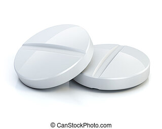 two medical pills - tablets