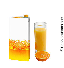 Orange juice carton box