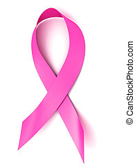 breast cancer awareness pink ribbon 3d illustration
