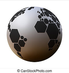 planet football 3d illustration