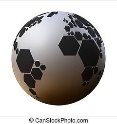 planet football 3d illustration