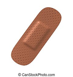 Medical adhesive bandage 3d illustration