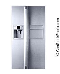 beau, image, blanc, réfrigérateur, fond
