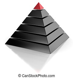 pyramid, hierarchy abstract 3d concept