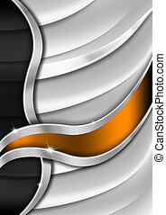 Orange and Metal Business Background - Orange and metal...