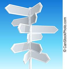 direção, estrada, sinais