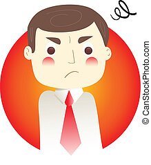 Anger - Illustration of an anger man