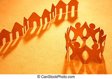 Paper chain neighborhood and community - Happy paper chain...