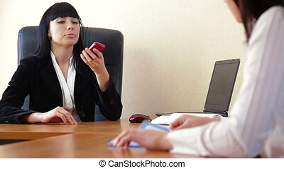 Business Conflict - Angered female chief reprimands a...