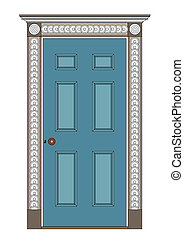 architecture - Ancient internal door, 1815 Regency and early...