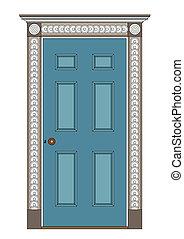 architecture - Ancient internal door, 1815. Regency and...