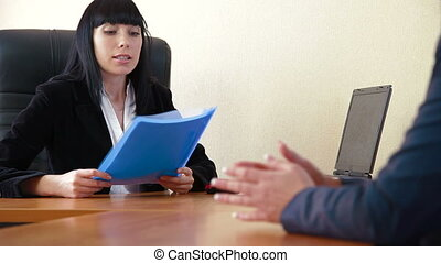Job Interview - Personnel manager having a job interview in...