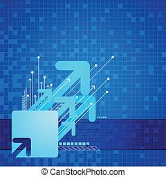 Futuristic Arrow Background - illustration of abstract...