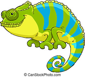 Chameleon on a white background vector illustration