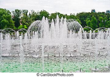 Fountain in Tsaritsino Park, Moscow