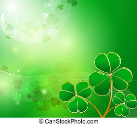 St. Patrick's glowing abstract background
